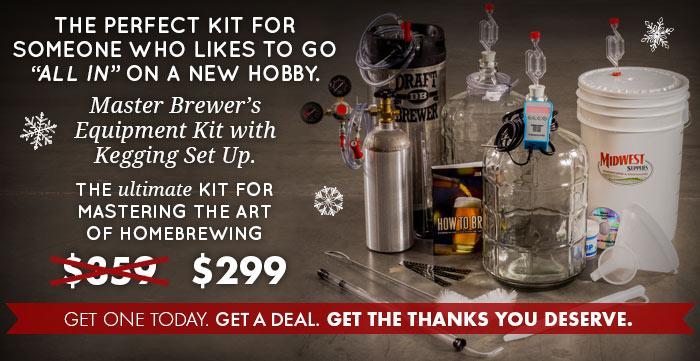 Master Brewer's Equipment Kit with Kegging Setup