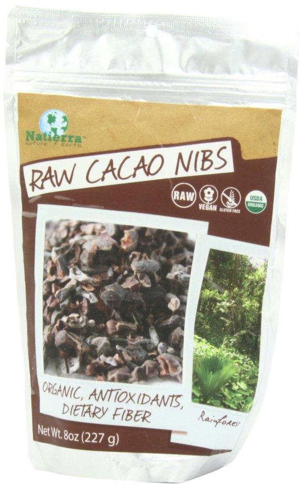 Natierra Raw Cacao Nibs, 8 Ounce