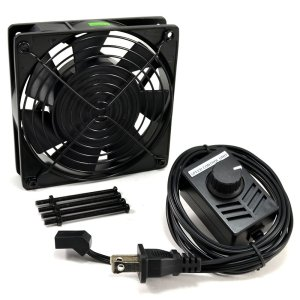 AC Infinity AI-120SCX Speed Control Fan Kit for Cabinet Cooling, Single 120mm