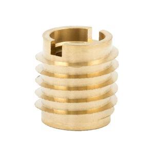 """E-Z Lok Threaded Insert, Brass, Knife Thread, 3/8""""-16 Internal Threads, 0.625"""" Length (Pack of 10)"""