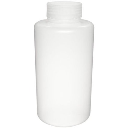 Dynalon Azlon 301625-0016 Polypropylene Wide Mouth Sample Bottle with Screw Cap, 500mL Capacity (Case of 48)