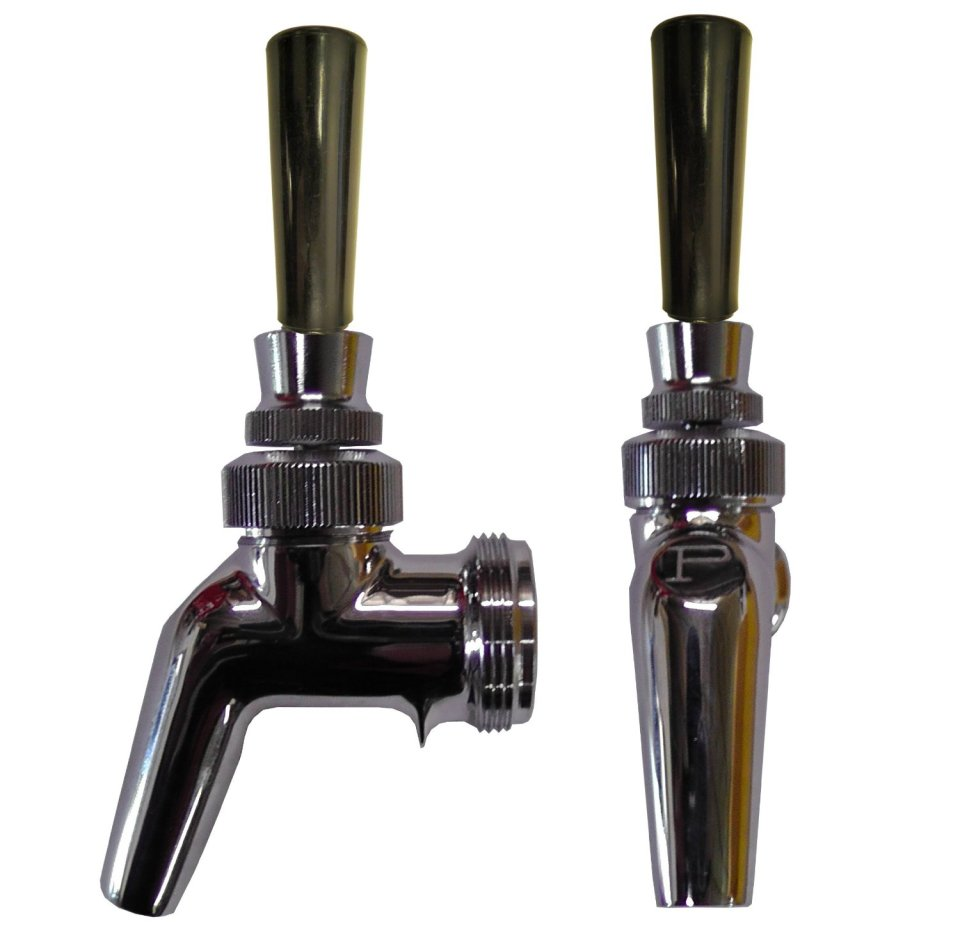 Kegerator Beer Faucet 630ss w/ Black Plastic Tap Handle