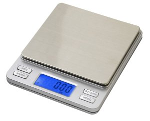 Smart Weigh Digital Pro Pocket Scale with Back-Lit LCD Display, Tare, Hold and PCS Features 500 x 0.01g (2 Lids Included)