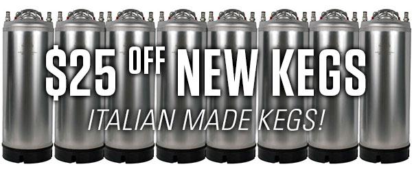 new italian ball lock kegs
