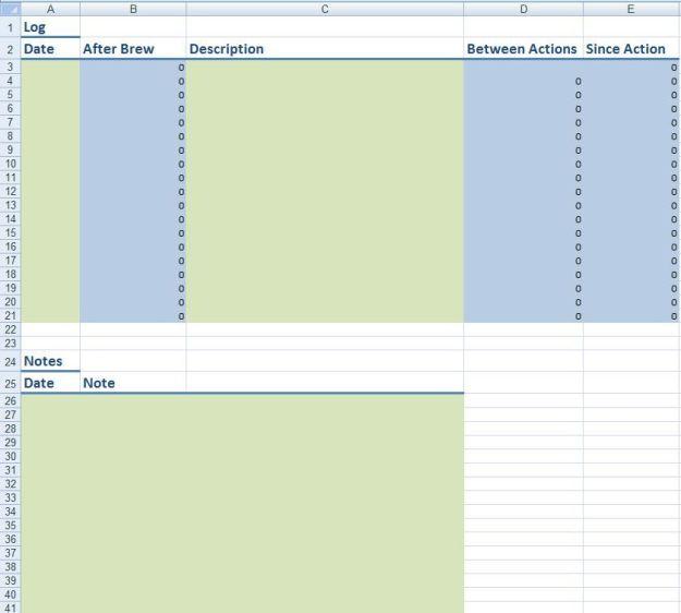 homebrewing excel spreadsheet