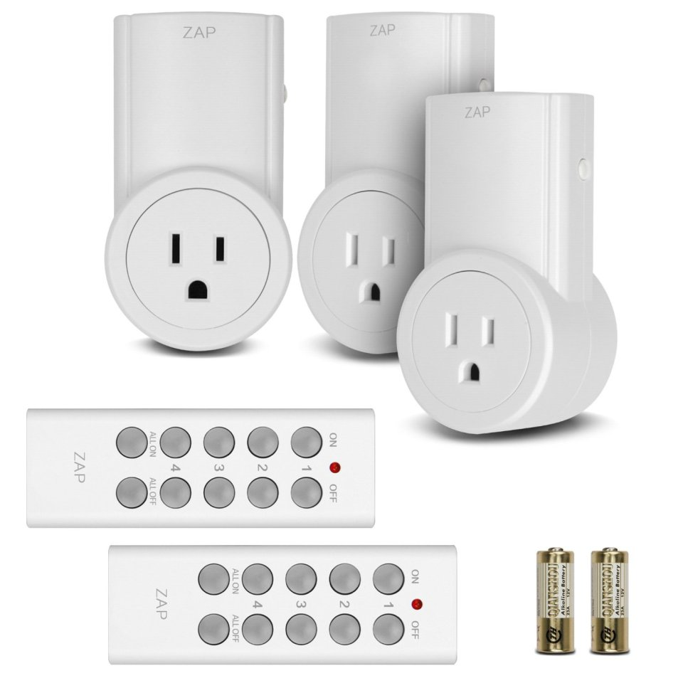 Etekcity Energy Saving Wireless Remote Control Electrical Outlet Switch Adapter & Converter Kit for Household Appliances (Learning Code, 3Rx-2Tx)