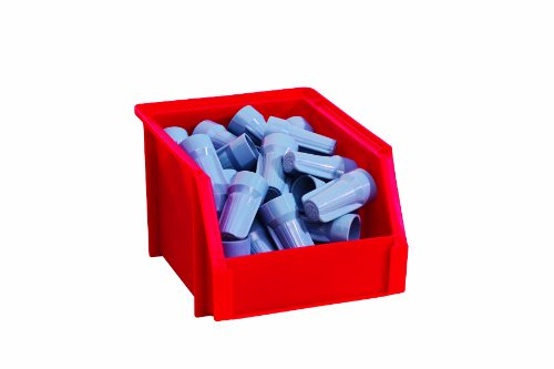 Stack-On BIN-5 Small Parts Storage Organizer Bin, Red