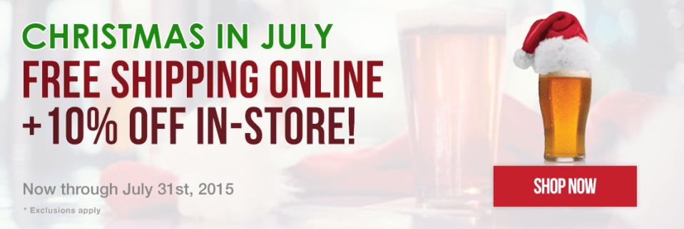 Free Shipping at Beer and Wine Hobby - No Minimum