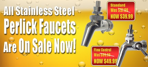 Perlick Stainless Faucet Sale! – Forward Sealing Stainless Steel ...