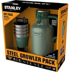 Stanley Growler and Adventure Stacking Pints Gift Set, Multiple, Green/Stainless Steel