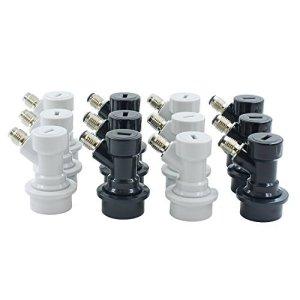6 Pairs Ball Lock Disconnects Thread MFL for Corny Kegs 6 Gas 6 Liquid