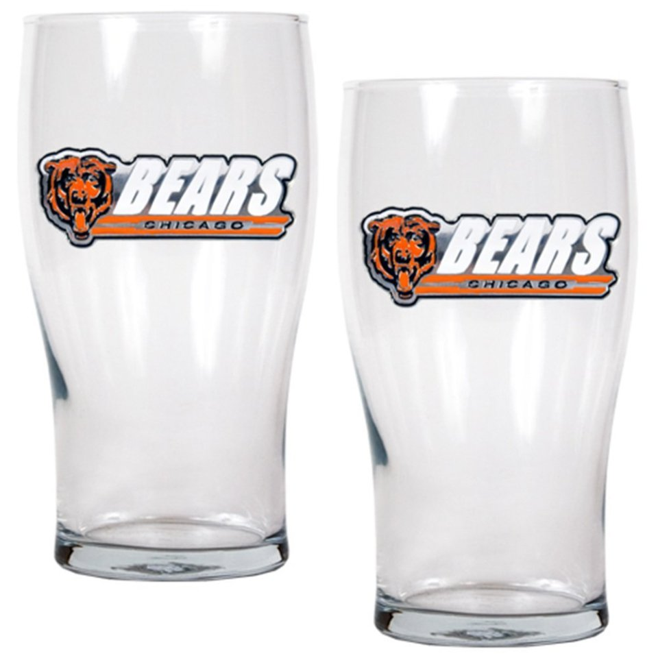 NFL Pub Glass Set (2-Piece), 20-Ounce, Clear Glass