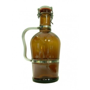 2L Brown Swing Top Growler