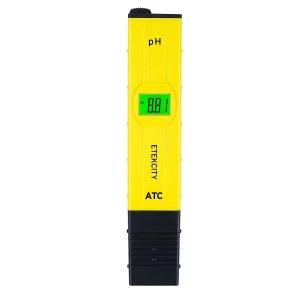 Etekcity 2011 Plus Digital pH Meter High Accuracy Water Pen Tester Pocket Size Design with ATC (Automatic Temperature Compensation), 0-14 pH Measurement Range