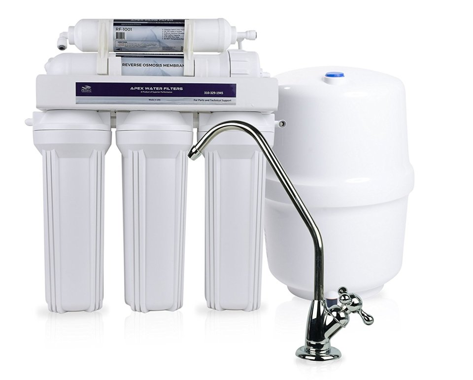 APEX MR-5100 5 Stage Reverse Osmosis Drinking Water System - Made in U.S.A.