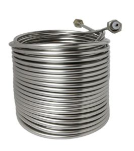 """Jockey Box Stainless Steel Cooling Coil, Right Hand, 120' x 3/8"""" O.D."""