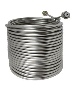 "Jockey Box Stainless Steel Cooling Coil, Right Hand, 120' x 3/8"" O.D."