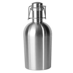 Asobu Coolest Stainless Steel Beer Growler 2 Go, 64 oz, Silver
