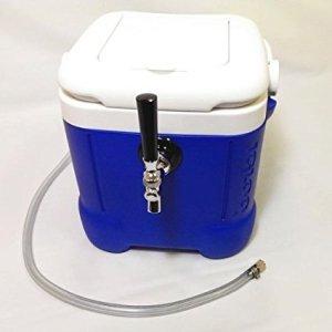 Mini Jockey Box - Portable Single Faucet Cooler- 50' Stainless Steel Coil (12QT)