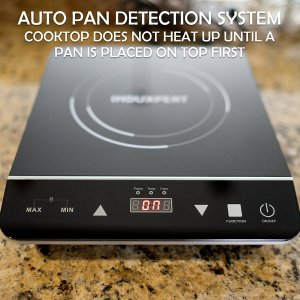 INDUXPERT Portable Induction Cooktop 1800W with Power, Temperature and Timer Setting - (Only Compatible with Magnetic Cookware)