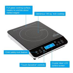 Duxtop LCD 1800-Watt Portable Induction Cooktop Countertop Burner 9600LS