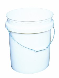 Encore Plastics 50640 Industrial Plastic 70-Mil with Handle, 5-Gallon, Pail White