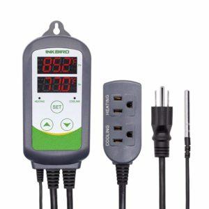 Inkbird ITC-308 Max.1200W Heater, Cool Device Temperature Controller, Carboy, Fermenter, Greenhouse Terrarium Temp. Control