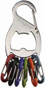 Nite Ize KRB-03-11 S-Biner Key Rack and Bottle Opener, Stainless
