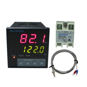 Inkbird ITC-106VH PID Temperature Thermostat Controllers, Fahrenheit & Centigrade, 100ACV - 240ACV, K Sensor, Solid State Relay for Sous Vide, Home Brewing (ITC-106VH + K + 25A SSR)