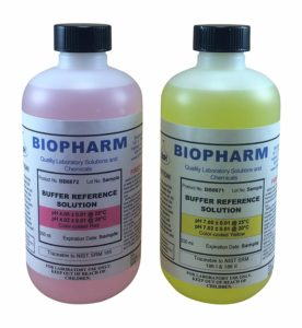 Biopharm pH Calibration Kit (2) 8oz Bottles pH 4 and pH 7 Buffer NIST Traceable Reference Standards for All pH Meters