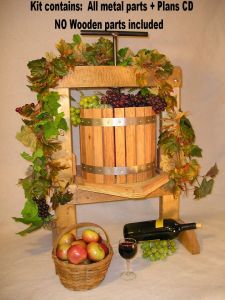 APPLE CIDER WINE GRAPE PRESS HARDWARE KIT YOU ASSEMBLE