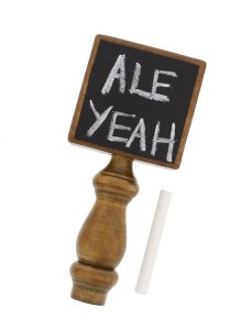 Chalkboard Beer Tap Handle with Chalk for Kegerator, Home Bar, Homebrew – for All Beer-Lovers in Square Style