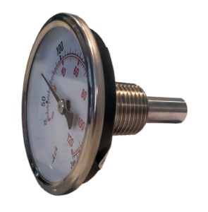 """CNS Gauges 2.5"""" Dial x 1.5"""" Stem Brewing/Distilling Thermometer with 1/2"""" NPT"""