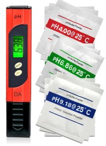pH Meter. Professional Quality Water Test Meter by Digital Aid - Large Backlit LCD Screen. Range 0.00 to 14.0 pH.