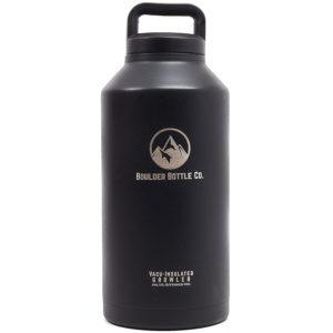 Boulder Bottle Co. 64oz Beer Growler, Vacuum Insulated Stainless Steel For 24 Hour Ice Cold Liquids
