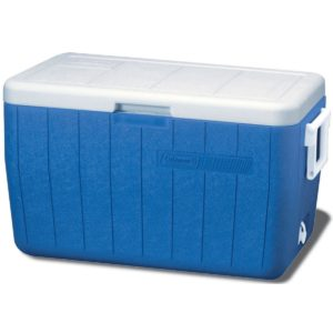 Coleman 48-Quart Cooler, Blue