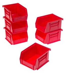 Akro-Mils 8212 Six Pack of 30210 Plastic Storage Stacking AkroBins for Craft and Hardware