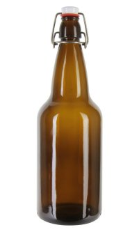 EZ Cap 500ml Flip-Top Home Brew Beer Bottles - Amber (Case of 12)