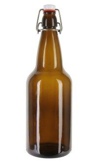 EZ Cap 500ml Flip-Top Home Brew Beer Bottles - Amber (Case of 12)