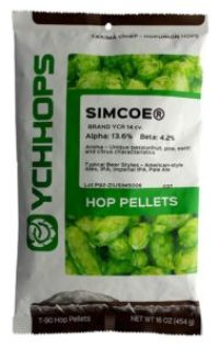 HopUnion 8566735 Simcoe Hop Pellets 1 lb.