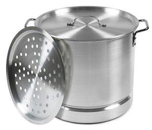 IMUSA USA MEXICANA-30 Aluminum Tamale and Steamer Steamer Pot 32-Quart, Silver