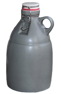 64oz Gray Stonefire Ceramic Beer Growler with Flip Top Lid