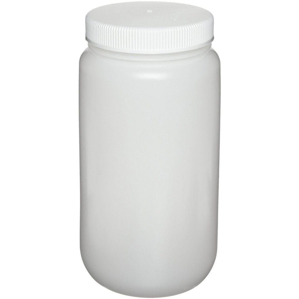 Nalgene 2105-0016 Wide-Mouth Bottle, Polypropylene, 500mL (Pack of 12)