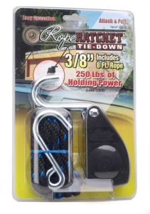 """Carolina North 10020 3/8"""" Rope Ratchet with 8' Solid Braided Polypropylene Rope, 250-lb. Capacity"""