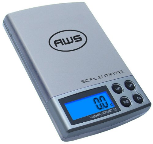 American Weigh Scale Scalemate Sm-500 Digital Pocket Scale, Silver, 500 X 0.1 G
