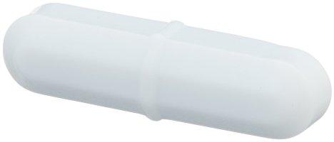 Bel-Art Spinbar Teflon Octagon Magnetic Stirring Bar; 25.4 x 8mm, White (F37110-0001)