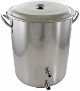 10 Gallon 2 Weld Volume Marked Brew Pot