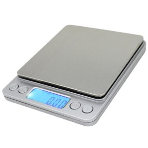 Spirit Digital Kitchen Scale Accuracy Pocket Food Scale Pronto Digital Multifunction Cooking Scale 0.01oz/0.1g 3000g with Back-Lit LCD Display (Silver)