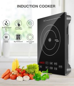1800W Portable Induction Cooktop Countertop Burner Cooktop with Timer, Locker and LED Display (15 Inch Induction Cooktop)