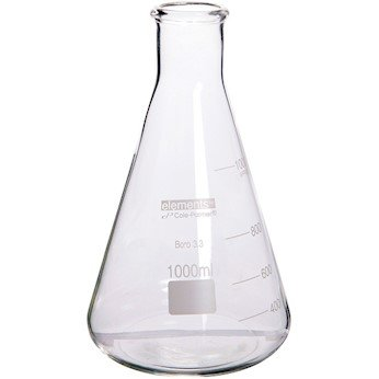 Cole-Parmer elements Erlenmeyer Flask, Glass, 6000 mL
